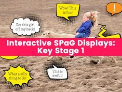 Interactive SPaG Displays: KS1 – Question Marks, Exclamation Marks, Possessive Apostrophes and More