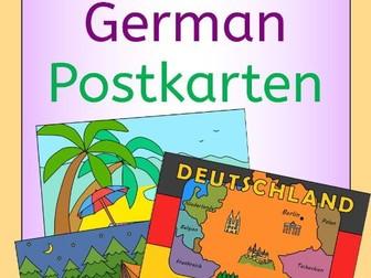 German Summer Holiday - write a postcard - Postkarten