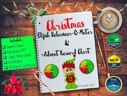 Christmas: Elfish Behaviour-o-meter & Advent Reward Chart