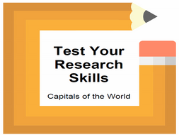 Test Your Research Skills Capitals of the World