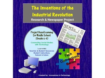 Inventions of the Industrial Revolution - Research & Newspaper Project in Canva