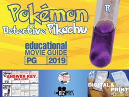 Pokémon Detective Pikachu Movie Guide | Questions | Worksheet (PG - 2019)