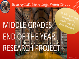 Middle School Writing:  End of the Year Research Project