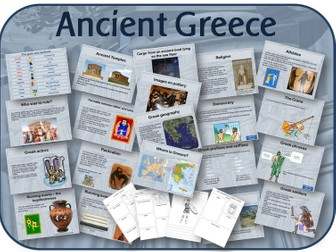The Ancient Greeks /  Greece pack: Powerpoints, activities, worksheets