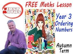 FREE YouTube and PowerPoint Ordering Numbers Maths Presentation Year 3