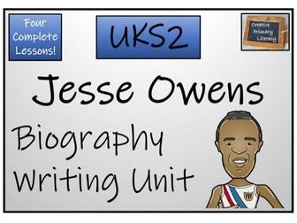 UKS2 Literacy - Jesse Owens Biography Writing Unit