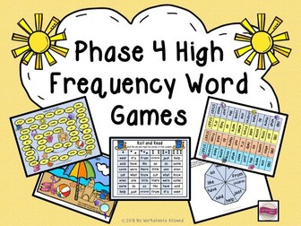 Phase 4 High Frequency Word Games