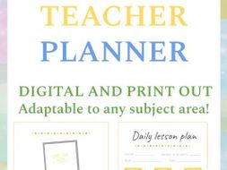 Teacher Planner - Digital and Print out (Full Version)