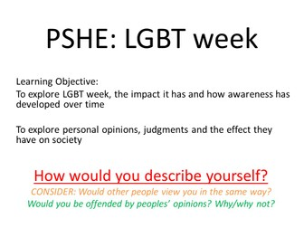 PSHE- LGBT