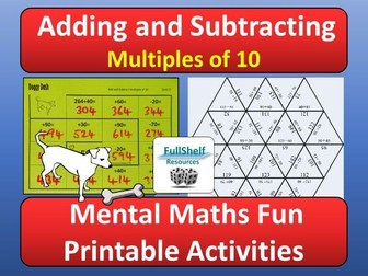 Addition and Subtraction Multiples of 10