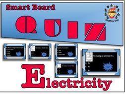 Current Electricity -35 Question Interactive Quiz  KS3