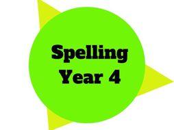 Year 4 - Year Plan - Spelling
