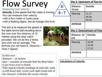 2017-2018 Year 11 OCR B Revision 30) Physical River Fieldwork Revision Data Presentation HAS ANSWERS