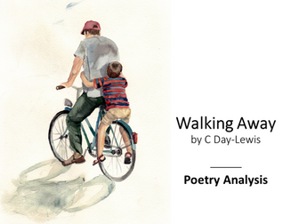walking away c day lewis Humans have to do this in many different areas of their lives, of course, and this poem, walking away by c day-lewis, describes this beautifully as he watches his son go into school i've always found it moving.