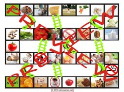 Healthy Lifestyle and Nutrition Chutes and Ladders Board Game