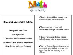Grade 1, Math Module 1 REVIEW & ASSESSMENT w/Ans keys (printables & Smart Board)