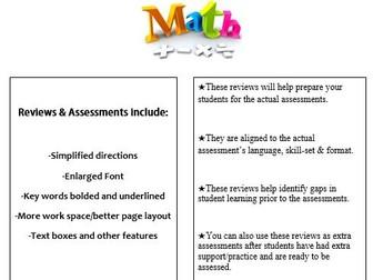 Grade 1, Math Module 1 REVIEW & ASSESSMENT w/Ans keys (printables & Smart Board)