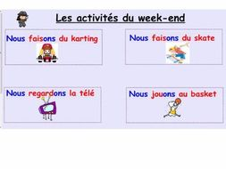 Notebook week-end activities