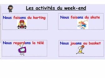 Notebook week-end activities