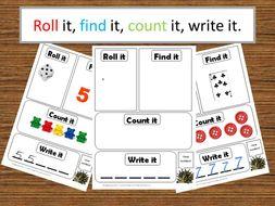 Roll it, Find it, Count it, Write it