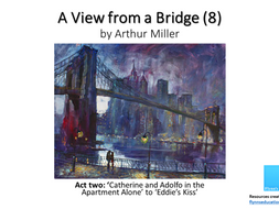 GCSE: A View From a Bridge (8) Act Two 'Catherine and Rodolpho Alone' to 'Eddie's Kiss'