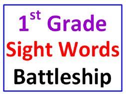 First Grade Sight Words Battleship