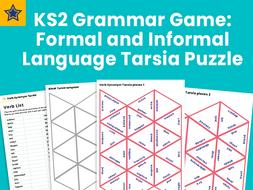 KS2 Grammar Game: Formal and Informal Language Tarsia Puzzle