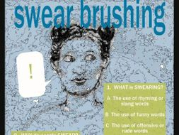 Swear Brushing QUIZ POSTER