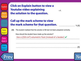 June 2018 OCR Chemistry AS Level Questions with clickable links H032/02 Depth