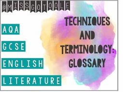 Language, Structural and Poetic Techniques/ Features/ Subject Terminology
