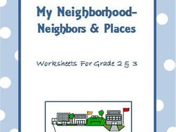 my neighborhood worksheets for grade 2 3 by ritureddi teaching resources. Black Bedroom Furniture Sets. Home Design Ideas