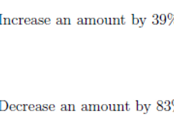 Multipliers For Percentage Increase And Decrease Worksheet With