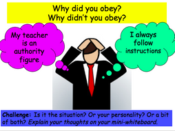 response to obedience as a psychological