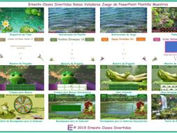 Flying Frogs Spanish PowerPoint Game TEMPLATE-An Original By Ernesto