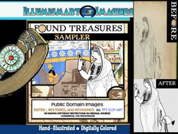 Found Treasures Sampler! FREEBIE 10 Clip-Art Pieces!