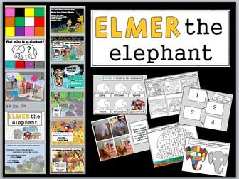 Elmer the Elephant simplified storytelling ppt and activity ideas KS2 EFL