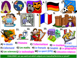 School subjects - opinions - Differentiated lesson