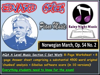 GRIEG NORWEGIAN MARCH AQA A Level Music Section C