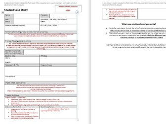 Student Case Study Template & Guide To Help Writing a Case Study - SEND Special Educational Needs