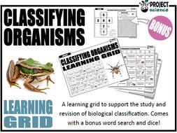 Classifying Organisms Learning Grid