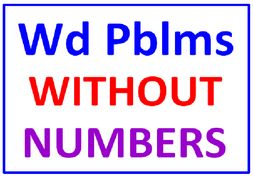 Word Problems WITHOUT Numbers WITH Lesson Plan
