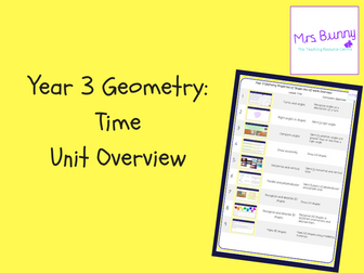 Year 3 Geometry: Properties of Shape Overview
