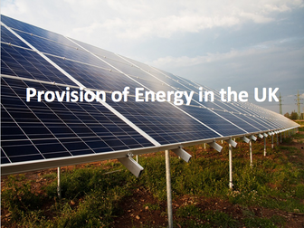 The Challenge of Resource Management - Provision of energy in the UK