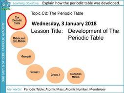 AQA GCSE: C2 The Periodic Table: L1 The Periodic Table