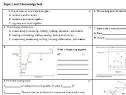 Edexcel CC5,6&7 Chemistry Knowledge Assessments
