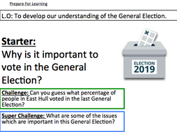 General Election 2019 - To develop our understanding of the General Election