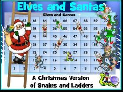 Elves and Santas - Christmas Snakes and Ladders