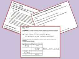 Maths A Level New Spec Complete Year 1 Notes and Examples