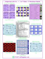 Comparisons with As...+...As 7 Game Plus 2 Worksheet Bundle