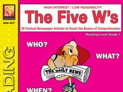 Five W's (Reading Level 1)